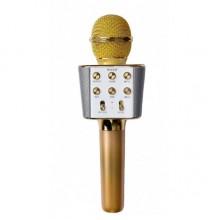 Микрофон-Караоке Bluetooth WSTER WS-1688 Gold Bluetooth 4.0
