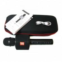 Беспроводной караоке микрофон dynamic  Charge V8 Black в чехле Bluetooth 4.0