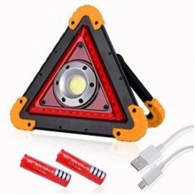 Легендарный прожектор, аварийный знак светодиодный W837 COB+35SMD RED, аккумуляторы 2x18650/4xAA в ПОДАРОК!