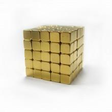 Головоломка неокуб NeoCube Золотой Тетракуб(квадратный неокуб) [5ММ * 216 КУБИКОВ]неодимовых магнитов